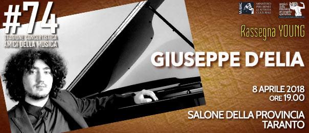 """8 aprile, Salone della Provincia Rassegna """"YOUNG""""GIUSEPPE D'ELIA pianoforte"""